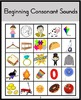 Beginning Consonant Sounds Bingo Games