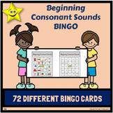 Beginning Consonant Sounds Bingo Games