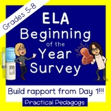 ELA Beginning of the Year Survey