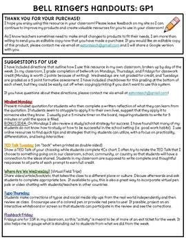 ELA Bell Ringer Handouts GP1