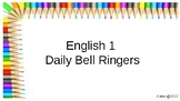 Secondary ELA Common Core Bell Ringers