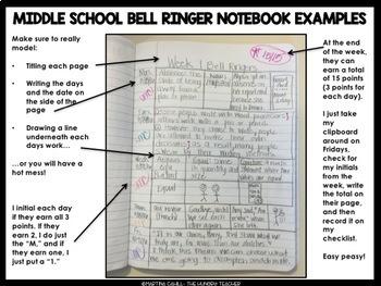 ELA Bell Ringers 7th Grade {3rd Quarter} Middle School Bell Ringers