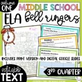 ELA Bell Ringers 7th Grade {3rd Quarter} Middle School Bel