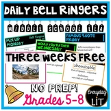 ELA Bell Ringers Middle School (3 Weeks Free!)