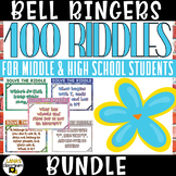 ELA Bell Ringers | Middle&High School | 100 Riddles Brain