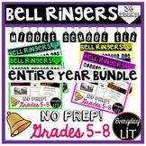 ELA Bell Ringers Middle School (Entire Year Bundle!)