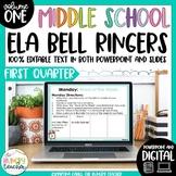 ELA Bell Ringers for Middle School-Volume One {1st Quarter}