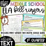 ELA Bell Ringers for 8th Grade {1st Quarter}