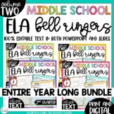 Middle School ELA Bell Ringers Volume Two {Entire Year Bundle}