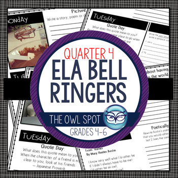 ELA Bell Ringers for Intermediate Grades - 4th Quarter