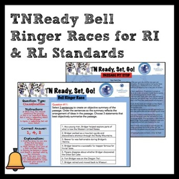 ELA Bell Ringers for Middle Grades: TNReady, Set, Go Bell Ringer Race