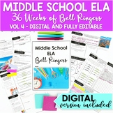 ELA Bell Ringers for Middle School: Complete Year 5th Grad