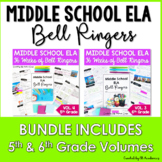 ELA Bell Ringers for Middle School Complete Year 5th and 6
