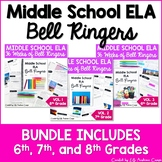 ELA Bell Ringers for Middle School Complete Year 6th, 7th,