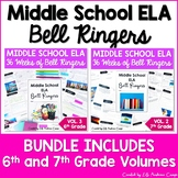 ELA Bell Ringers for Middle School Complete Year 6th and 7th Grade BUNDLE