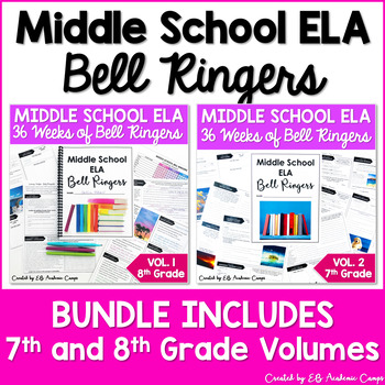 ELA Bell Ringers for Middle School: Complete Year Vol. 1 and Vol. 2 BUNDLE