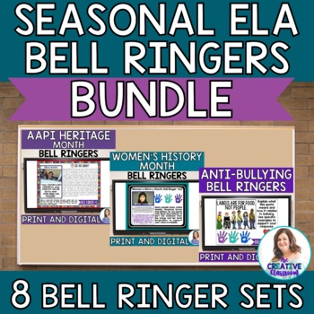 ELA Bell Ringers for Middle School GROWING Bundle