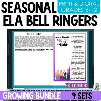 ELA Bell Ringers for Middle School GROWING Bundle