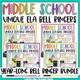 ELA Bell Ringers | Middle School | Grammar | Literature | Mentor Sentences