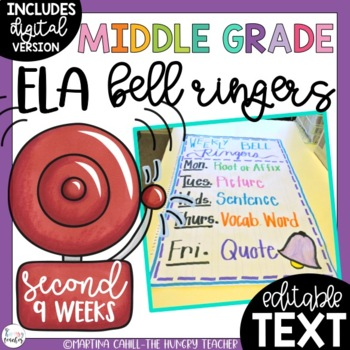 ELA Bell Ringers for Middle School and Upper Elementary (2nd Quarter)