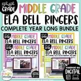 ELA Bell Ringers Upper Elementary Middle School Editable Digital