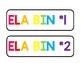 ELA Bin Labels for Ikea Trofast 6 Drawer