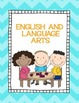 ELA Binder Cover and Section Pages