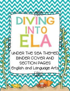 ELA Binder & Section Covers- Under the Sea Theme