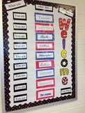 ELA Welcome Bulletin Board