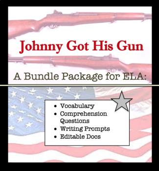 ELA Bundle for Johnny Got His Gun by Dalton Trumbo ; Readi