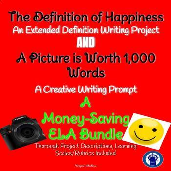 ELA Bundle of Writing Prompts-- Extended Definition and Creative Journal