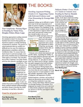 ELA CCSS Book Studies: Argument Writing, Text Complexity,