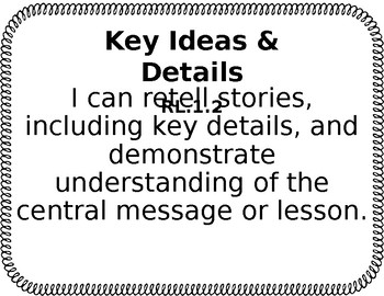 ELA CCSS I Can Statements for 1st Grade (Editable)