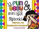 ELA Interactive Notebook Flip Books