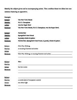 COMMAS FOR APPOSITIVES USAGE: ELA COMMON CORE