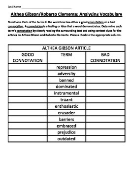 ENGAGE NY MODULE 3A COMMON CORE: GIBSON/CLEMENTE VOCABULARY ANALYSIS