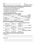 ELA CONJUNCTIONS Correlative Conjunctions Worksheet #2