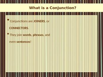 ELA CONJUNCTIONS Coordinating Conjunctions (Compound Sentences) PowerPoint PPT