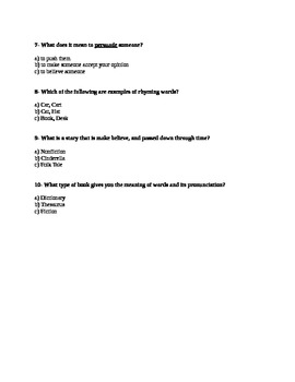 ELA CRCT Practice Test Part 1