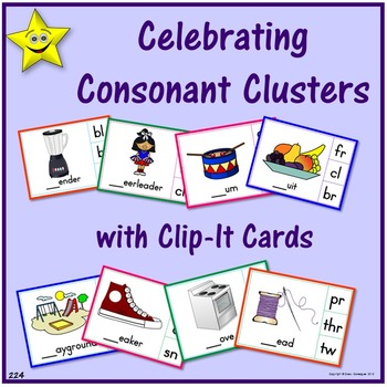 Consonant Clusters Clip-It Cards