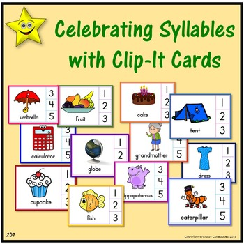 Syllables Clip-It Cards