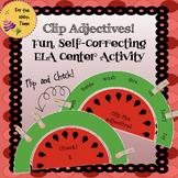 ELA Center Activity to Practice Adjectives- Grammar Self C