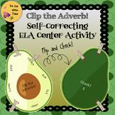 ELA Center Activity to Practice Adverbs- Grammar Self-Corr