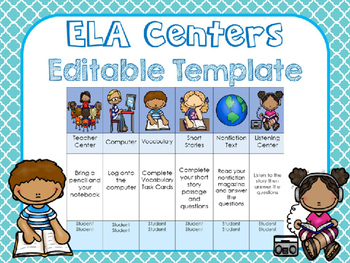 ELA Center PowerPoint