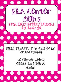 ELA Center Rotations