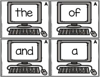 ELA Center: Type The Word List A