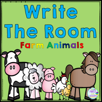 ELA Center: Write The Room Farm Animals