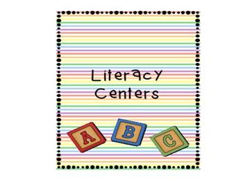 ELA Centers Literacy Centers