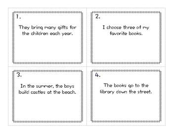 ELA Centers- Irregular Past Tense Verbs (Verb Hunt and Puzzle)