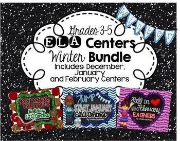 ELA Centers WINTER {MEGA BUNDLE}